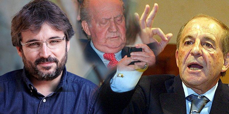 Évole utiliza a José María García para engañar al Rey Juan Carlos y preguntarle por Botsuana