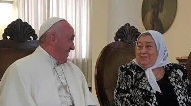 El Papa volvió a escribir a Hebe de Bonafini