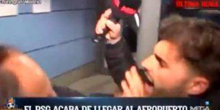 Así fue el empujón que la seguridad del PSG le dio a un reportero de 'El Chiringuito'