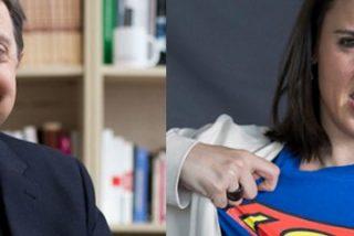 Un enfurecido Jiménez Losantos coge por la solapa a Irene Montero por poner a parir sus artículos en Twitter