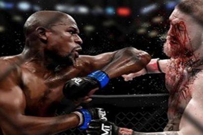 El sucio y sangriento fotomontaje con el que Floyd Mayweather provocó a Conor McGregor