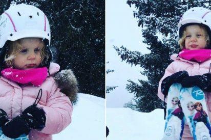 Gabriella de Mónaco, toda una Princesa 'Frozen' esquiando como una fiera