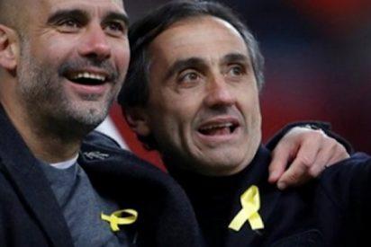Zasca histórico de este periodista a Guardiola por el numerito del lazo amarillo