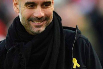 La federación inglesa expedienta al 'bocas' de Guardiola por el lazo amarillo
