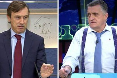 El bufón de laSexta insulta gravemente a Hernando por llevar semanas diciendo que Puigdemont es un zombi