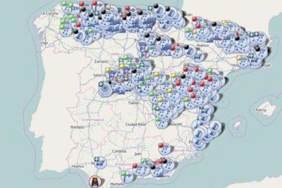 Esta noche sigue el temporal de nieve: consulta todas las carreteras afectadas en España