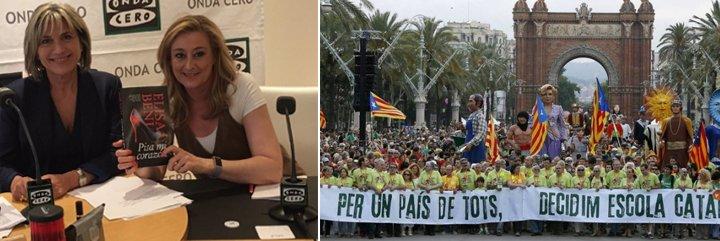 Twitter le canta las cuarenta a Elisa Beni y a Julia Otero por sus lloriqueos con el peligro que según ellas corre el catalán