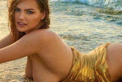 Así tumba una ola a la modelo Kate Upton y le arruina un 'topless' millonario