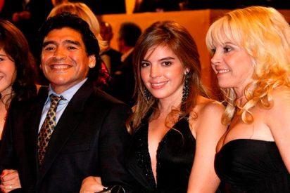 Los Maradona demuestran en la boda de la hija del Pelusa lo mal que se llevan