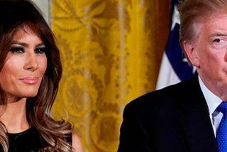 Melania Trump se niega a sacarse una foto con su marido