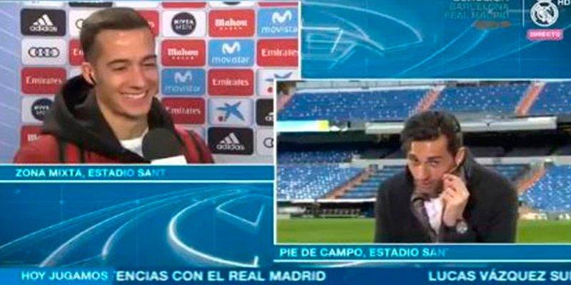 Así fue momento cómico entre Lucas Vázquez y Arbeloa