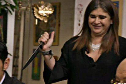 """Lucía Etxebarría hace un patético intento para justificar su ridículo en 'Ven a cenar conmigo': """"Fui por dinero"""""""