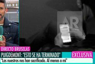 Los 'indepes' amenazan al periodista de Telecinco que sacó los mensajes de Puigdemont