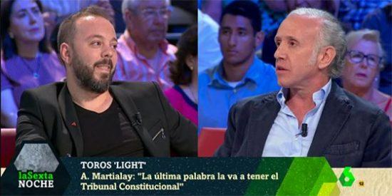"Soberbio zasca de Inda al 'pacifista' Maestre: ""A ti te gusta como a Iglesias, que pateen en la cabeza a los policías"""