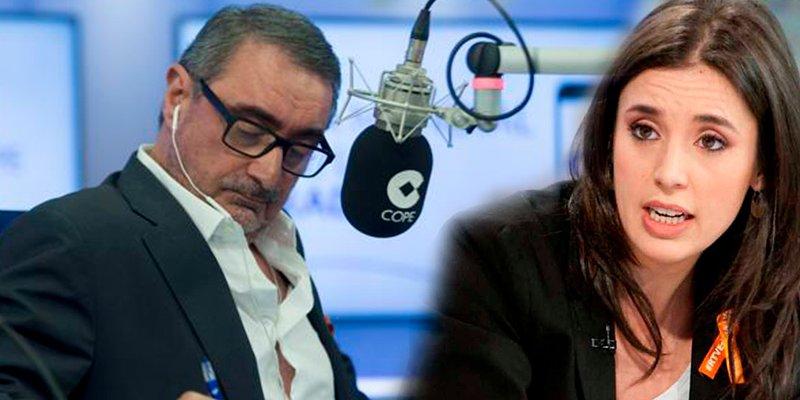 La 'portavoza' Montero acusa a Carlos Herrera de machista