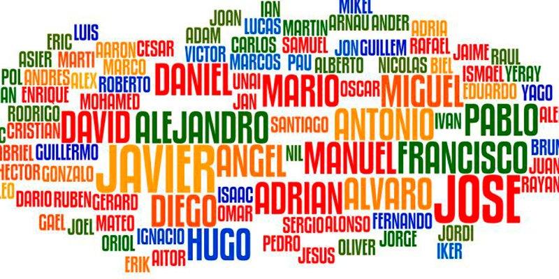 Niños y niñas bautizados con los nombres de los patrones, patronas y de todos los santos
