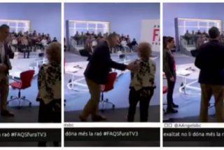La arrabalera Pilar Rahola vuelve a montar otro numerito en TV3 con un invitado