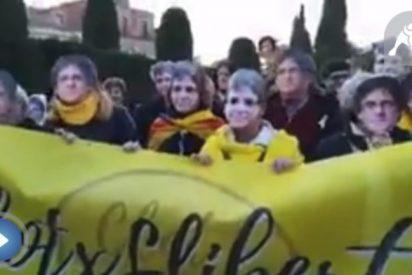 El vídeo de los dantescos separatas llamando a Puigdemont con el que llorarás de risa