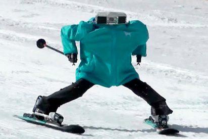 Estos fantásticos Robots esquiadores sorprenden con su destreza en los JJ.OO. de Pyeongchang