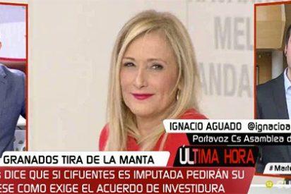 Ignacio Aguado deja KO a Javier Ruiz: el presentador que le embistió para que pusiera a Cifuentes en la horca