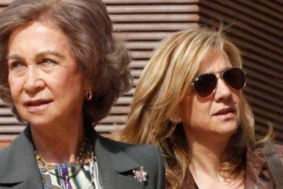 Doña Sofía muy preocupada por la salud de su hija Cristina