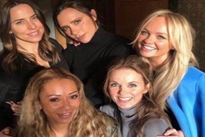 El móvil con 'cocaína' en una foto de las Spice Girls que alteró a las redes