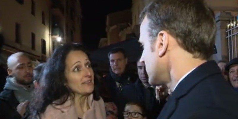 Así es el cara a cara del presidente Macron con la esposa de un separatista condenado por asesinato
