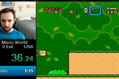 El truco para terminar Super Mario World en menos de un minuto