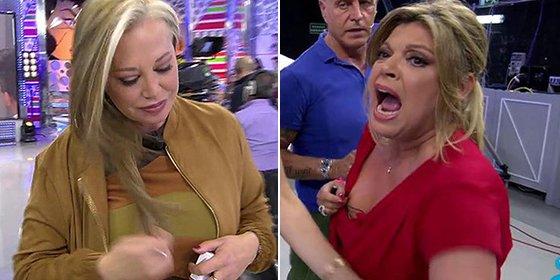 'Sálvame' es una clase de primaria: Belén Esteban y Terelu Campos explotan y se largan