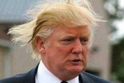 El viento 'le toma el pelo' a Trump y destapa el patético secreto de su peinado