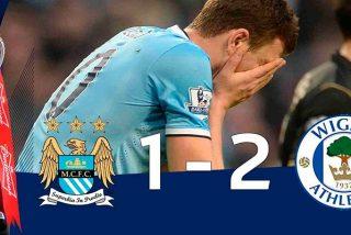 Así dejó en ridículo el humilde Wigan al poderoso Manchester City del independentista Guardiola