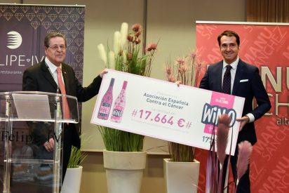 WIN, el vino sin alcohol, entrega a la AECC 17.664 euros de la campaña 'WIN Contra el Cáncer'