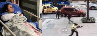 Una mujer policía de armas tomar se enfrenta a tiros con los atracadores