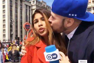 Periodistas en apuros: gritos, besos y sustos
