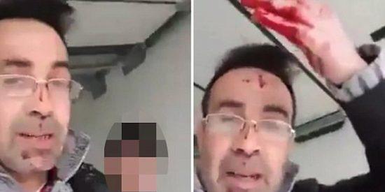"""El brutal vídeo del refugiado que degüella a su esposa: """"¡Así acabaréis si enfadáis a vuestro marido"""""""