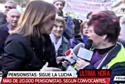"""La abuela de Podemos se va de morros en CuatroTV: """"¡Fátima Báñez de mierda!"""""""