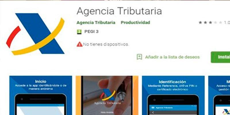 ¿Sabías que la 'app' de la Agencia Tributaria para la Renta 2017 ya está disponible, pero también otras 'apps' que no son oficiales?