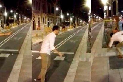 El joven que pateó a una mujer en la Diagonal multado con 60.000 euros
