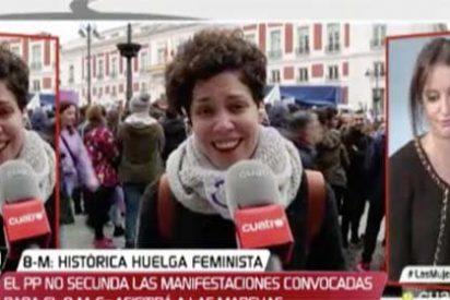 Andrea Levy planta cara con firmeza a la matona feminazi que Javier Ruiz utilizó para montarle una encerrona