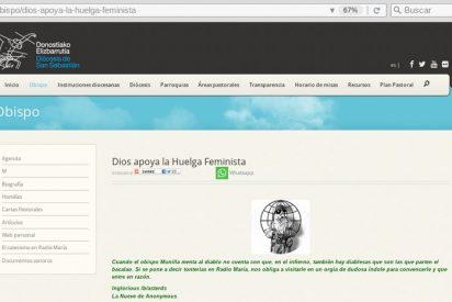 Anonymous hackea la web de la diócesis de San Sebastián