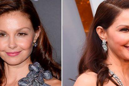 El espectacular cambio de rostro de Ashley Judd tras unos retoques estéticos