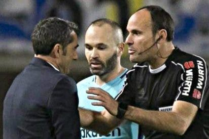 """Ernesto Valverde: """"Hemos empatado con Las Palmas por un penalti invisible"""""""