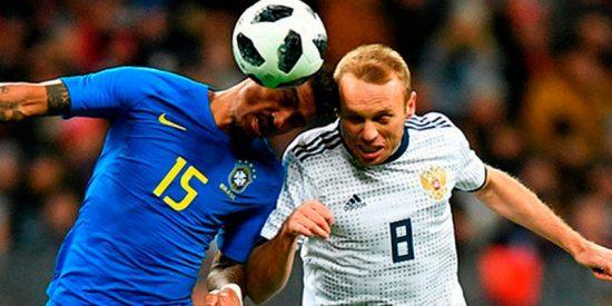 Brasil y Rusia se enfrentan en un partido amistoso que sirve de ensayo para el Mundial
