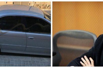 Mire cómo unos energúmenos separatistas destrozan el coche de Juan Carlos Girauta