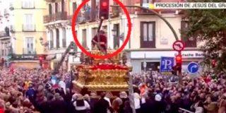 El Jesús del Gran Poder da a Madrid el 'gran susto' de la Semana Santa