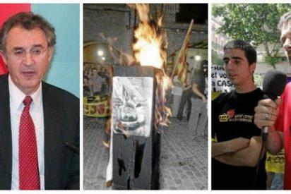 El ignorante Luis López Guerra vuelve a insultar a España sentenciando que quemar la foto del Rey es libertad de expresión