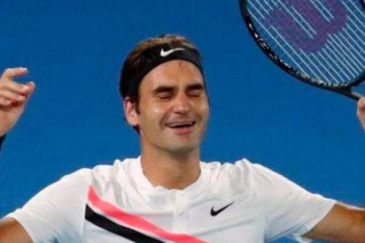 Así fue el puntazo de Federer después de un asfixiante intercambio