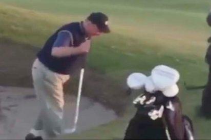 Es mejor admitir que no se te da nada bien jugar al golf, que mentir y hacer esto...