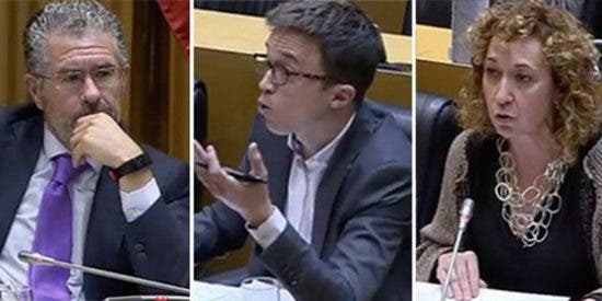 Granados monta un show descomunal en el Congreso, trolea a Errejón y a la 'indepe' y le gira la cara a Bildu