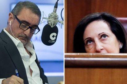 Carlos Herrera le explica a un oyente por qué Margarita Robles está siempre de mala leche